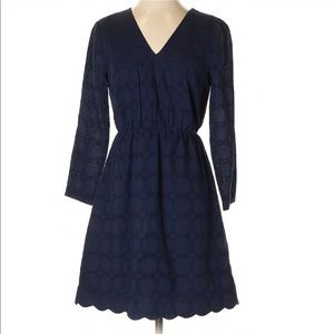 J. CREW FACTORY | Navy Eyelet Lace Midi Dress 4